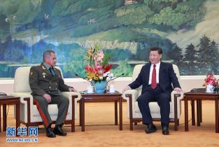 习近平会见俄罗斯国防部长绍伊古