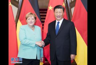 习近平会见德国总理默克尔