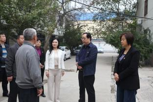 市领导调研濮阳文明城市创建工作