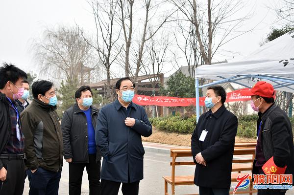 市领导到示范区督导检查疫情防控工作