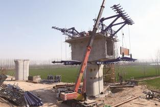 郑济铁路濮阳段项目建设进展顺利