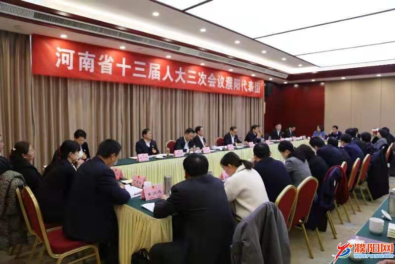 濮阳代表团认真审议省政府工作报告