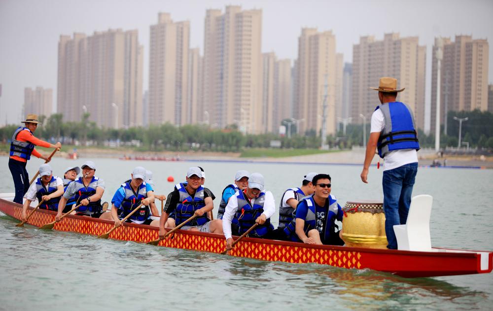 龙舟大赛举行在即各项准备工作紧张有序
