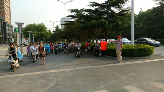 邮储银行濮阳市分行积极开展文明交通志愿活动