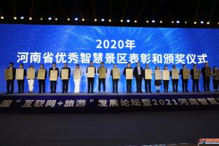 """东北庄杂技文化园区荣获河南省2020年度""""四钻级智慧景区"""""""