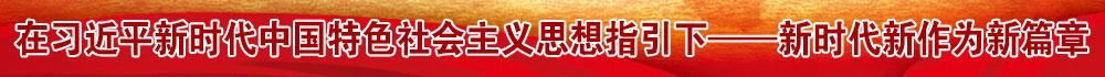 在习近平新时代中国特色社会主义思想指引下——新时代新作为新篇章