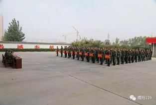 濮阳市消防支队组织开展第三季度比武竞赛
