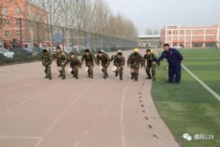 濮阳消防全面掀起冬季体能训练热潮