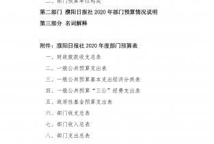 2020年濮阳日报社部门预算公开